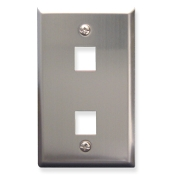 Stainless Steel Faceplate 2 Port