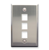 Stainless Steel Faceplate 3 Port