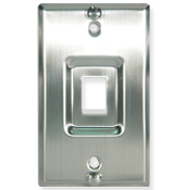 Telephone Wall Plate Stainless Steel 1 Port