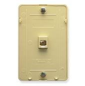 Telephone Wall Plate 1 Port Screw Term